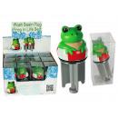 Wash basin plug, Frog in Life belt, ca. 11 cm, 12