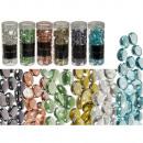 Decoratieve glas nuggets, 6-assortiment, 400 g, in
