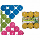 wholesale Garden & DIY store: Citronella candle,  4 colors assorted, 9 pieces in