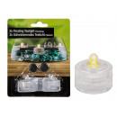 Kunststoff-Schwimm-Teelicht mit LED-Flackerlicht