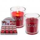 Scented candle (Rose) in a glass, Love, approx. 7