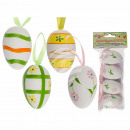 Plastic Easter eggs on the ribbon, about 6 cm, 4-f