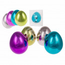 Plastic easter eggs, metallic, about 15 cm, 4-farb