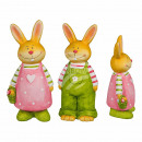 Ceramic Easter Bunny, about 10.5 x 23 cm, sorted t