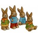 Seduti e in piedi colorata ceramica coniglio, ca