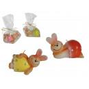 Kaars, Easter Bunny, ongeveer 10 x 5 cm, 4 assorti