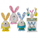 Plastic Easter Bunny, Colors, about 9 cm