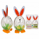 Plastic Easter Bunny, about 10 cm, set of 2