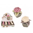 mayorista Casa y decoración: Vela, Rose, en una  olla de cerámica, antigüedades