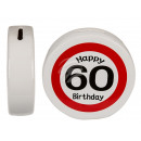Ceramic Money Box with Happy Birthday 60, ca. 13,5