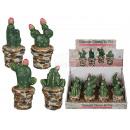 cactus en céramique dans un récipient, environ 6 x