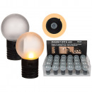 Plastic magnetic, ball, (Warm white LEDs incl