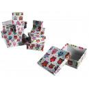 White gift box, Owl, ca. 22.5 x 22.5 x 8 cm, set o