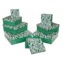 Zielone pudełko z kaktusem, około 22,5 x 22
