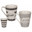 New Bone China Mug, Best Friends & Choose happ