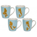 New Bone China Mug, Golden Mermaid, ca. 1
