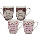New Bone China Mug, Home Sweet Home con floreale D