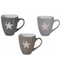 wholesale Cups & Mugs: Stoneware Mug,  Star, 11,5 x 10 cm, 3 colors