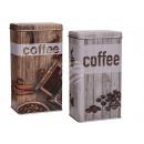 Metalen koffie kan, koffie, Vintage look, ca. 20 x