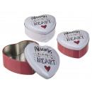 Herzförmige Metall-Dose, Always in my Heart