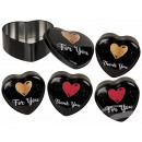 Heart shaped metal box, For you & Thank you