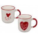 New Bone China Mug, Red Heart & I love you