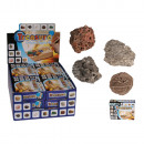 wholesale Experimentation & Research: Excavation set with 5 gems, ca. 3 x 12,5 cm, 12 pc