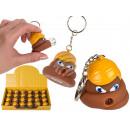 Metal key fob, poo-president