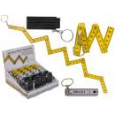 Metall-Schlüsselanhänger, Kunststoff-Zollstock
