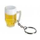 Portachiavi, vetro di birra di plastica, di circa