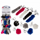 Metal Key Chain, synthetic fur Foxtail &