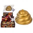 Poo wyciskane w kolorze złota, około 8 cm