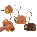 Metal Keychain, Squeeze Sloth, Pop Fa
