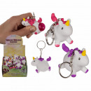 Metal key fob, squeeze unicorn II