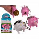 Metal Keychain Squeeze Farm Animals, Poop