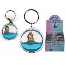 Porte-clés en métal, sirène flottante