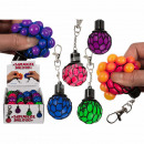 Metal key chain, squeeze ball in the net