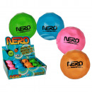 wholesale Balls & Rackets: Soft bouncing  ball, Nero, ca. 9 cm, 4 colours ass.