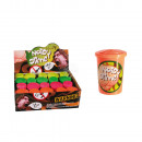 wholesale Gifts & Stationery: Noisy slime in plastic tin, 4 colours ass., 20 pc