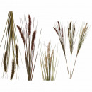 Deco grass branch, approx. 84 cm, 3-color assorted