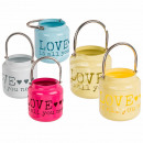 wholesale Wind Lights & Lanterns: Metal lantern, Love is all you need, about 13x12,