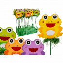 Wood Gartenstecker, frog, approximately 7 x 26 cm,