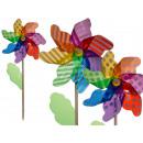 mayorista Decoracion, jardin e iluminacion: Molino de viento colorido de la hoja en el palo de