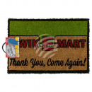 Doormat, Kwik-E-Mart, approx. 60 x 40 cm, with hea