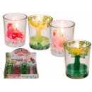 wholesale Candles & Candleholder: Candle in glass, palm & flamingo, ca. 7 x ...
