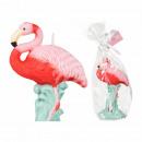 grossiste Maison et habitat: Bougie, Flamingo,  environ 13 x 9 cm, enveloppés da