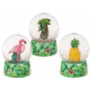 Polyresin Glitter Ball, Flamingo, Pineapple &