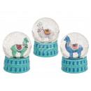 Großhandel Schneekugeln:-Polyresin Glitterkugel, Llama, ca. 9 x 6,5 ...