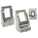 grossiste Miroirs: boîte miroir bois,  reine de beauté, avec tiroir, c