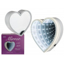 wholesale Mirrors: White plastic mirror, heart, with hanging front